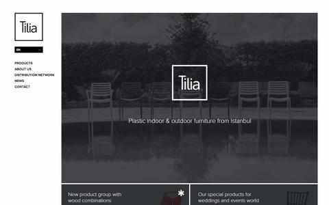 Screenshot of Home Page tilia.com.tr - Home Page - Tilia - captured March 20, 2016