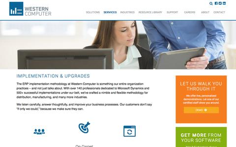 Implementation & Upgrades, Western Computer| ERP implementation, Software Upgrades