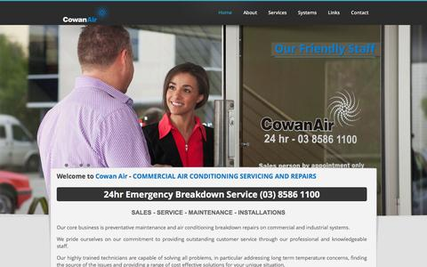Screenshot of Home Page cowanair.com.au - Cowan Air - Commercial air conditioning repair | Office air conditioning service - captured Dec. 12, 2015