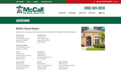 Screenshot of Locations Page mccallservice.com - Northern Florida & Georgia Pest Control Services | McCall Service - captured Oct. 17, 2018
