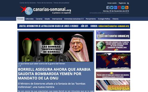 Screenshot of Home Page canarias-semanal.org - Canarias-semanal.org, Digital informativo de ámbito internacional y actualización diaria, de lunes a viernes - captured Nov. 9, 2018