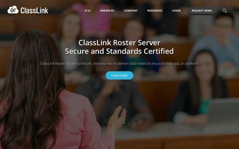 Screenshot of Home Page classlink.com - ClassLink - captured Sept. 5, 2019