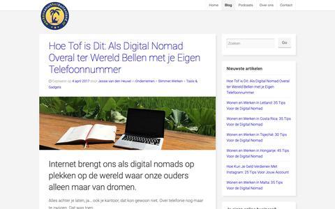 Screenshot of Blog werkenvanuithetbuitenland.nl - Blog: artikelen en interviews met digitale nomaden | WVHB - captured Oct. 18, 2018