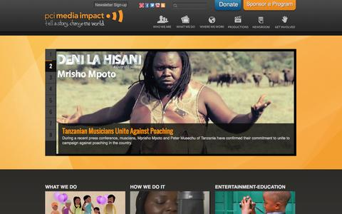 Screenshot of Home Page mediaimpact.org - PCI Media Impact - captured Oct. 1, 2014