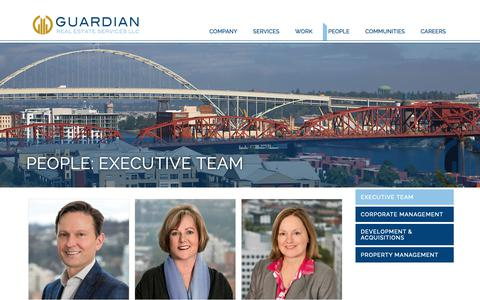 Screenshot of Team Page gres.com - Executive Team Archives | Guardian Real Estate Services - captured Sept. 30, 2018