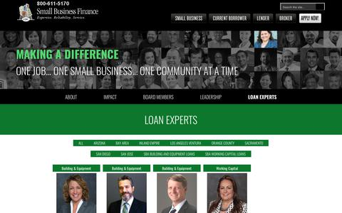 Screenshot of Contact Page cdcloans.com - Loan Experts, Small Business Loans Officers | CDC Small Business - captured Sept. 4, 2017