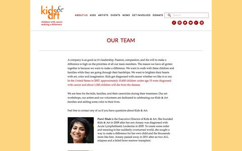 Screenshot of Team Page kidsandart.org - Our Team — Kids and Art Foundation - captured Feb. 12, 2016