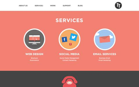Screenshot of Services Page tigatech.co.uk - Services - Tiga Tech - captured Sept. 30, 2014