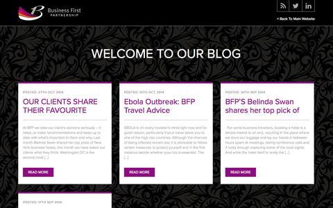 Screenshot of Blog bfp.travel - Business First Partnership - captured Nov. 3, 2014