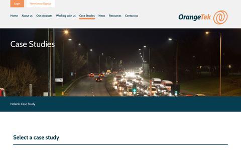 Screenshot of Case Studies Page orangetek.co.uk - Case Studies - captured Oct. 19, 2018
