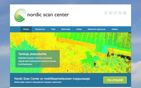 Screenshot of Home Page Menu Page scancenter.fi - Nordic Scan Center Oy - captured Oct. 8, 2014