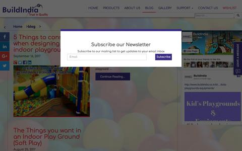Screenshot of Blog buildindia.co.in - BLOG - Outdoor and Indoor Playground Equipments India |Soft Play Manufacturer| Soft Play Supplier | Indoor PlayGround Supplier| children's play area equipment india | Outdoor and Indoor Playground Equipments India |Soft Play Manufacturer| Soft Play S - captured Oct. 11, 2017