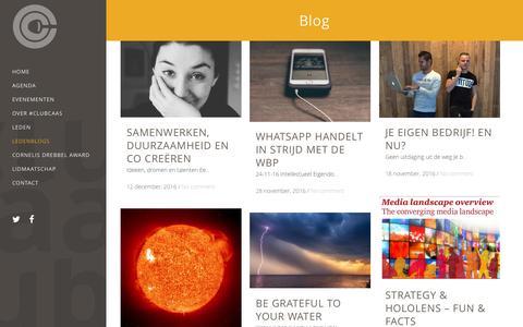 Screenshot of Blog clubcaas.nl - Blog - clubcaas.nl - captured Dec. 19, 2016