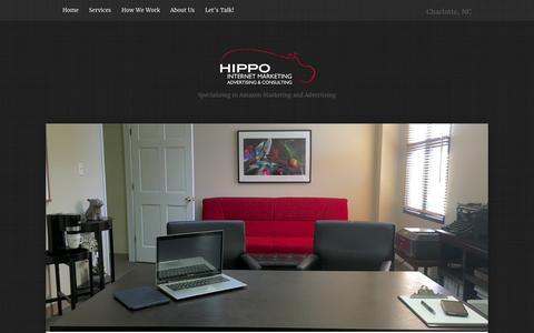 Screenshot of Home Page hippoim.com - Hippo Internet Marketing - Amazon Marketing Consultants - captured Jan. 30, 2016