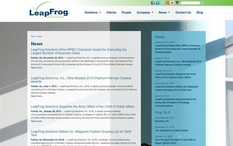 LeapFrog Solutions - News