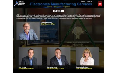 Screenshot of Team Page appliedtechnicalservices.com - Applied Technical Services Corporation - Who We Are - Our Team - captured May 30, 2017