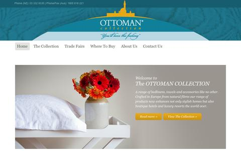 Screenshot of Home Page ottomancollection.com - www.ottomancollection.com - captured Oct. 3, 2014