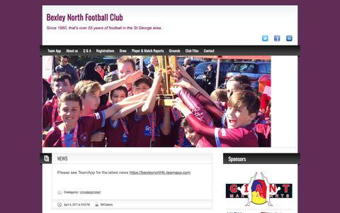 Screenshot of Press Page bexleynorthfc.com.au - NEWS - captured Oct. 10, 2017