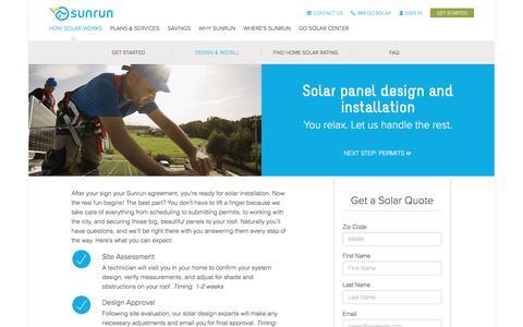 Screenshot of sunrun.com - Solar Installation Procedures   Solar Panel Installation   Sunrun - captured April 10, 2017