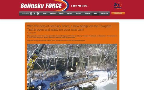 Screenshot of Blog Press Page selinskyforce.com - News & Events - captured Oct. 24, 2017