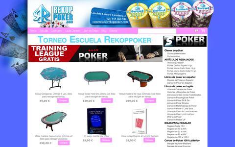 Screenshot of Home Page lasupercopa.com - RekoPPokeR. Tienda de poker en Madrid. Venta en vivo e Internet de artículos de Poker. - Tienda RekoppokeR - captured Sept. 27, 2014