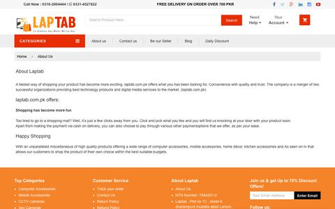 Screenshot of About Page laptab.com.pk - About us | Laptab - captured Sept. 27, 2018