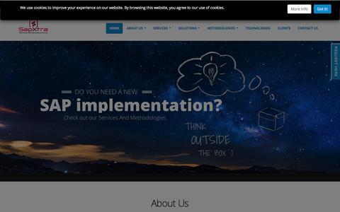 Screenshot of Home Page sapxtra.com - sapXtra - captured Sept. 29, 2017