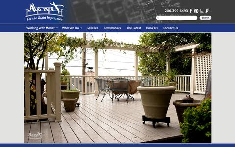 Screenshot of Home Page monetpaint.com - Monet Homes - captured Oct. 7, 2014