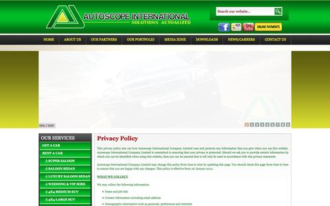 Screenshot of Privacy Page autoscopeinternational.com - Autoscope Co. Ltd | Private Policy - captured Feb. 5, 2016