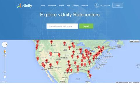 Screenshot of Locations Page vunity.com - vUnity Business Internet Minneapolis - vUnity Business Internet - captured Oct. 7, 2014