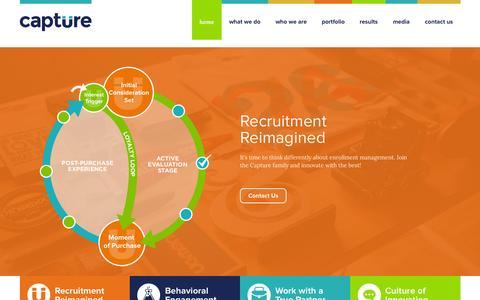 Screenshot of Home Page capturehighered.com - Capture Higher Ed - captured June 17, 2015