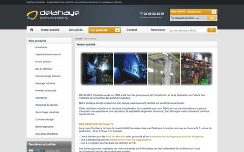 Screenshot of About Page delahaye-industries.fr - Notre société - captured June 4, 2017