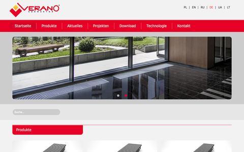 Screenshot of Home Page verano-konwektor.de - Startseite - Verano Konvektor - captured Aug. 30, 2015