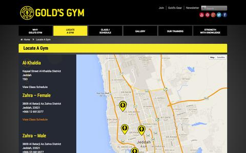 Screenshot of Signup Page ggarabia.com - Locate A Gym     Gold's Gym Arabia - captured Oct. 27, 2014
