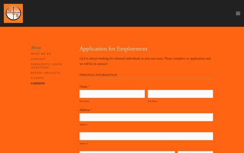 Screenshot of Jobs Page glssurvey.com - Careers — GEOPHYSICAL LAND SERVICES, LLC - captured Nov. 5, 2016