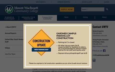 Screenshot of Signup Page mwcc.edu - Join Our Team — Mount Wachusett Community College - captured July 12, 2018