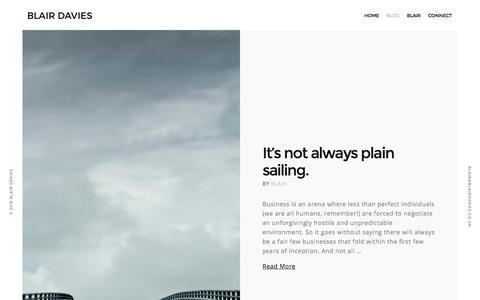 Screenshot of Blog blairdavies.co.uk - Blog - Blair Davies - captured Nov. 22, 2016