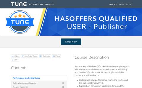 HasOffers Qualified User: Publisher