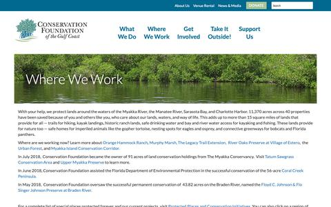 Screenshot of Maps & Directions Page conservationfoundation.com - Conservation Foundation - Where We Work - captured Oct. 24, 2018