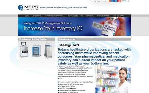 Screenshot of Products Page mepsrealtime.com - MEPS Real-Time's Three Systems, Unlimited Visibility for Pharmaceutical Inventory - captured Sept. 16, 2014