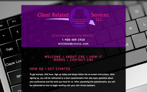 Screenshot of FAQ Page clientrelatedservices.com - FAQ's | Client Related Services, LLC. — Client Related Services - captured Oct. 2, 2014