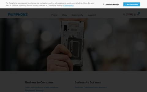 Screenshot of Terms Page fairphone.com - All legal documents - Fairphone - captured Sept. 19, 2018