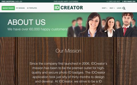 Screenshot of About Page idcreator.com - About Us   IDCreator.com - captured May 17, 2017