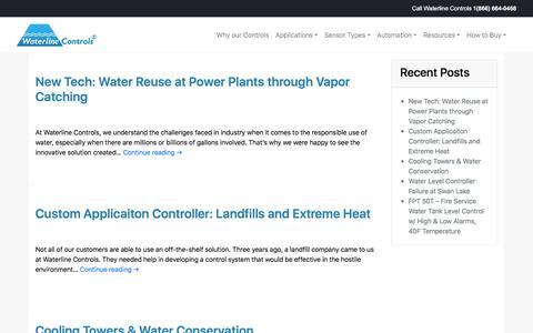 Screenshot of Blog waterlinecontrols.com - Latest Waterline Information and Updates - captured Sept. 20, 2018