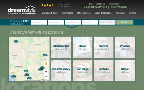 Screenshot of Locations Page dreamstyleremodeling.com - Locations   Albuquerque, NM   Dreamstyle Remodeling - captured Dec. 9, 2018