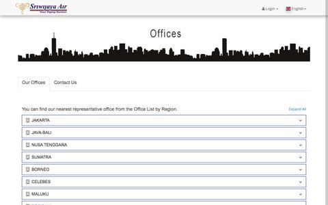 Screenshot of Contact Page sriwijayaair.co.id - Sriwijaya Air - captured June 20, 2017