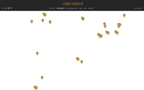 Screenshot of Maps & Directions Page laragroup.net - View Lara Group furnished apartment on Map - Lara Group - captured Sept. 27, 2018