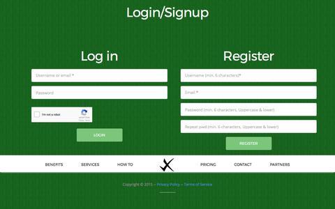 Screenshot of Login Page xpertrfp.com - XpertRFP - captured Nov. 4, 2017