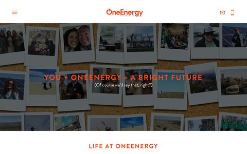 Screenshot of Jobs Page oneenergyrenewables.com - Careers | OneEnergy Renewables - OneEnergy Renewables - captured June 12, 2017