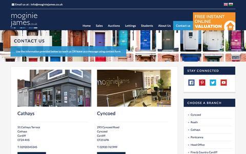 Screenshot of Contact Page moginiejames.co.uk - Moginie James branch list - captured Dec. 3, 2016